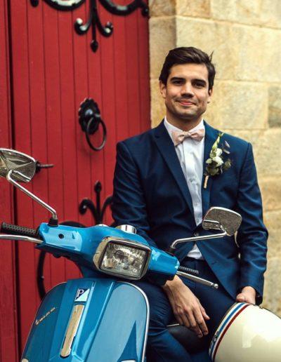 Costume bleu mariage Auvergne